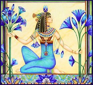 priestess and blue lotus